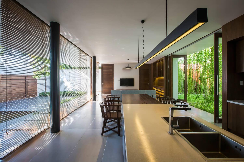 Casa Moderna Jardim No Vietn Por Mia Design Studio