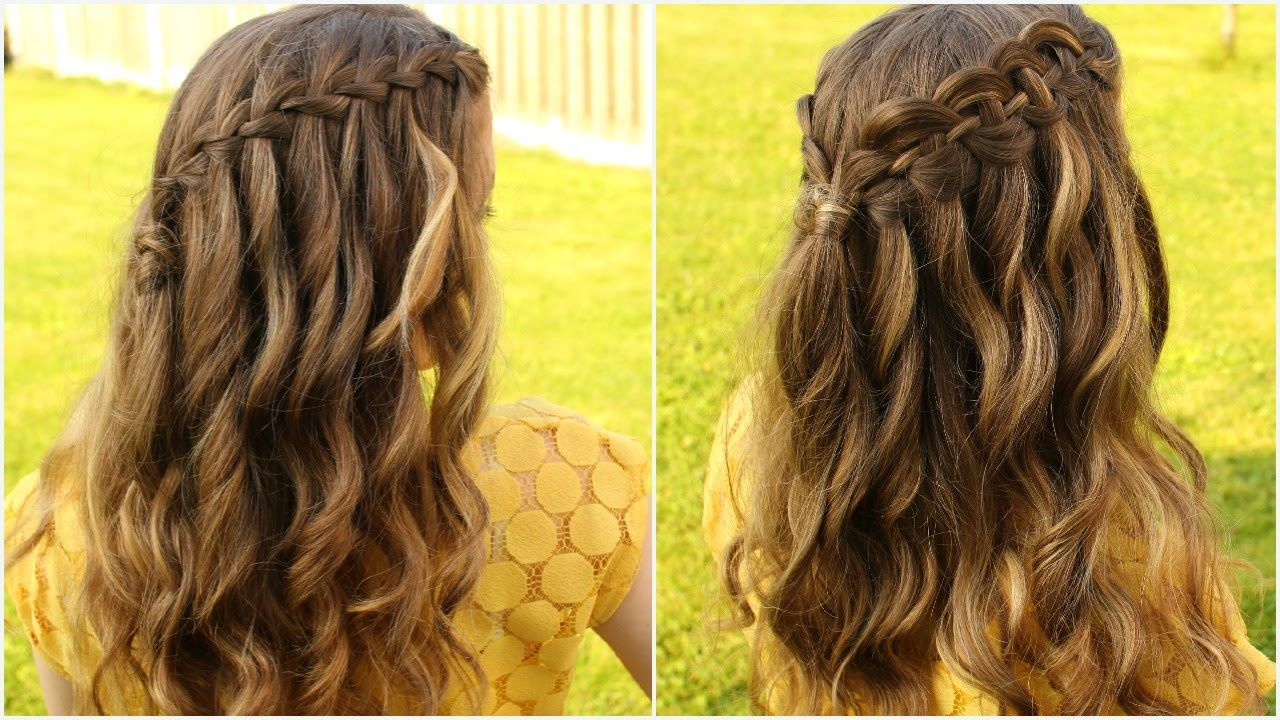 Diy waterfall braid hair tutorial braidsandstyles make me