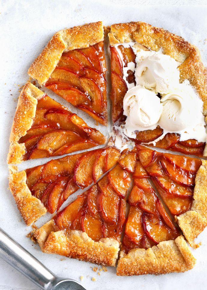 A Summer Peach Galette Fork Knife Swoon Recipe Peach Recipe Peach Galette Recipe Desserts
