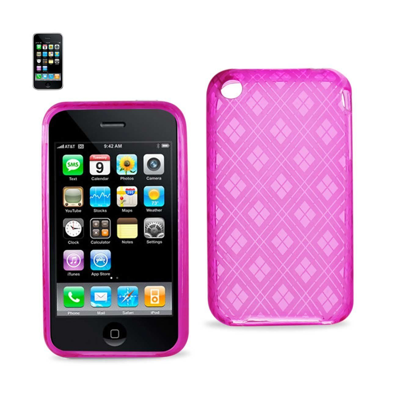 Reiko iPhone 3g/3gs Jelly Polymer Diamond Case Pink