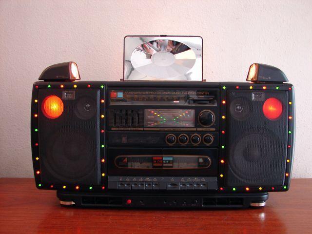 VINTAGE MXC CROWN CS 2525 DISCO GHETTOBLASTER BOOMBOX NICE