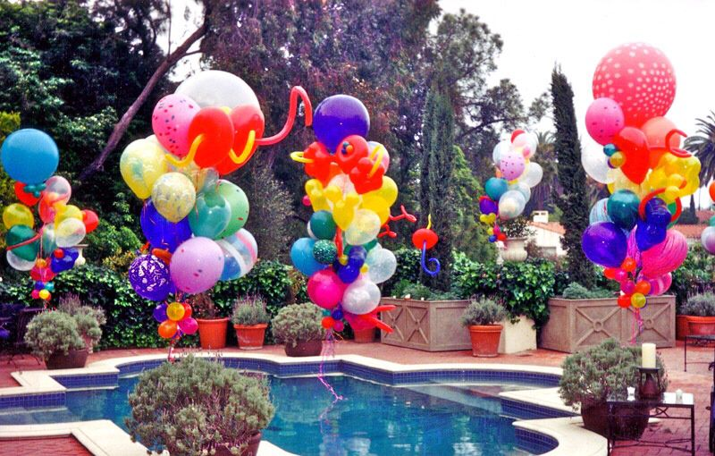 Pool Balloon Decorations Birthday 3rd Special Occasion Balloons