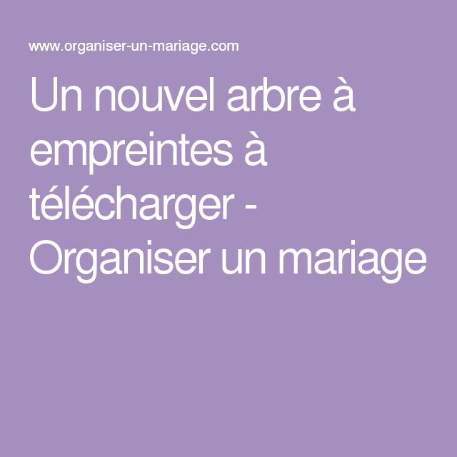 Un nouvel arbre  empreintes  télécharger Organiser un mariage