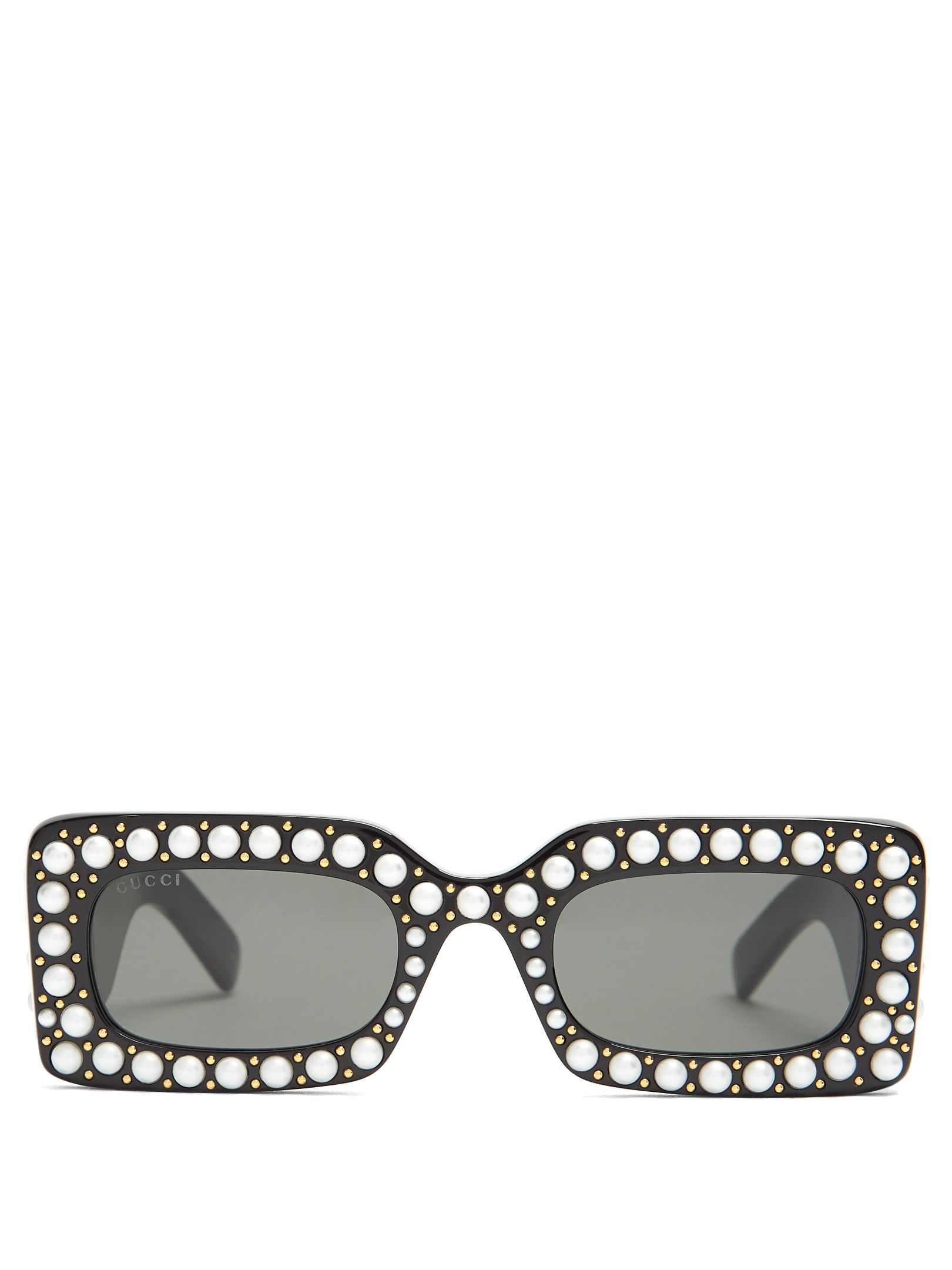 2369e39d138 Gucci Faux-pearl embellished acetate sunglasses
