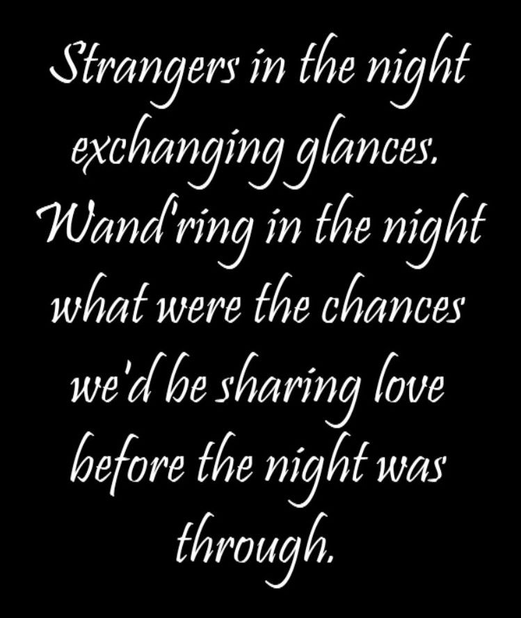 Frank Sinatra - Strangers in the Night - song lyrics, song ...