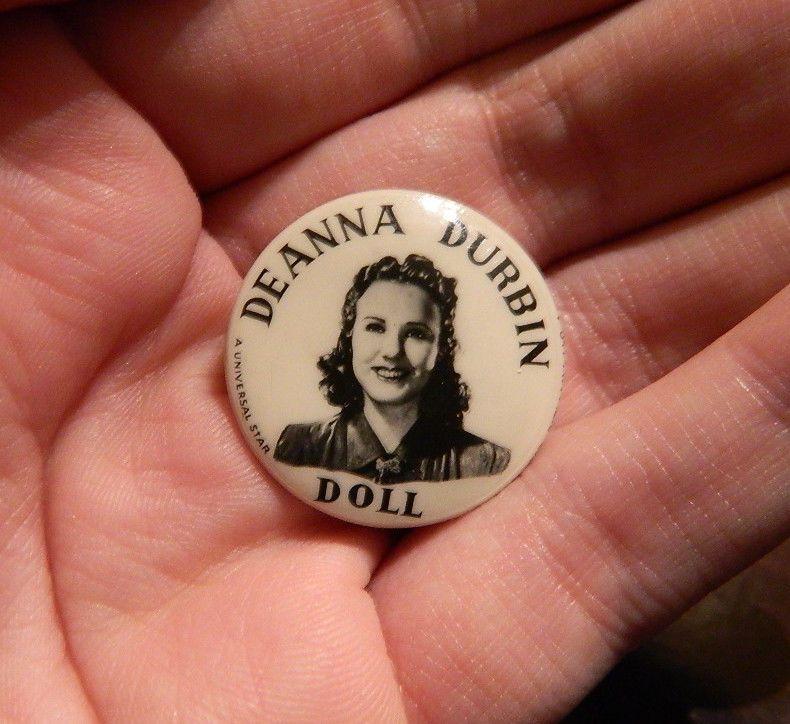Pin By Deanna Pavlov On Tattoos: Rare Original 1930's Deanna Durbin Doll Pin Button For