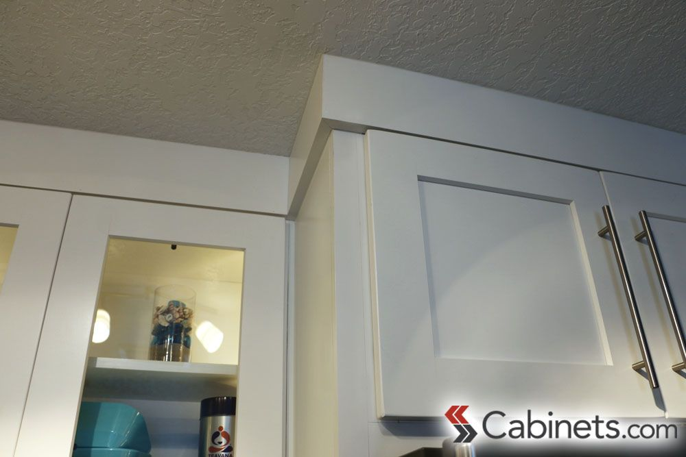 Simple crown moulding is an extension of the modern style ...