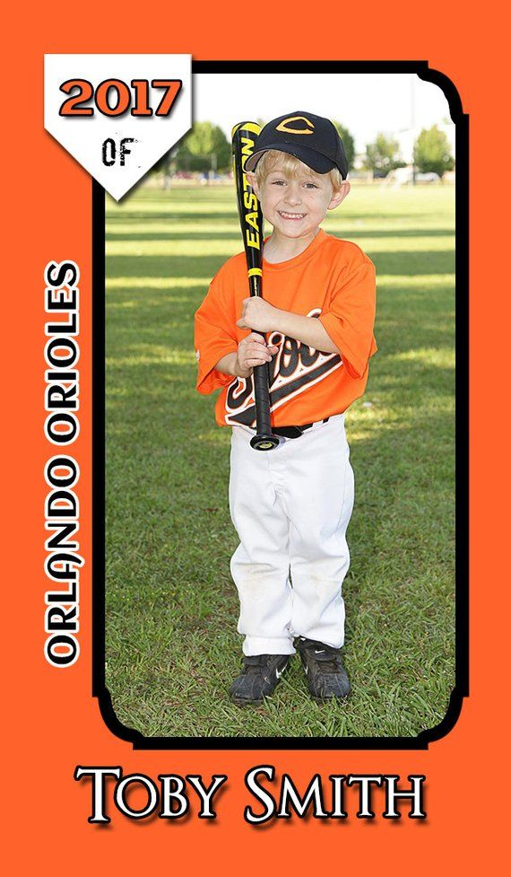 Miniature Baseball Card Photoshop Template For Printing On