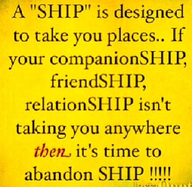 Ship on and ship out!!! Easier said then done though!