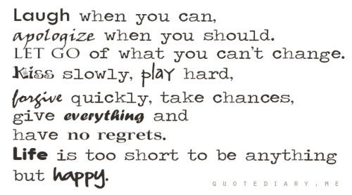 My new philosophy!