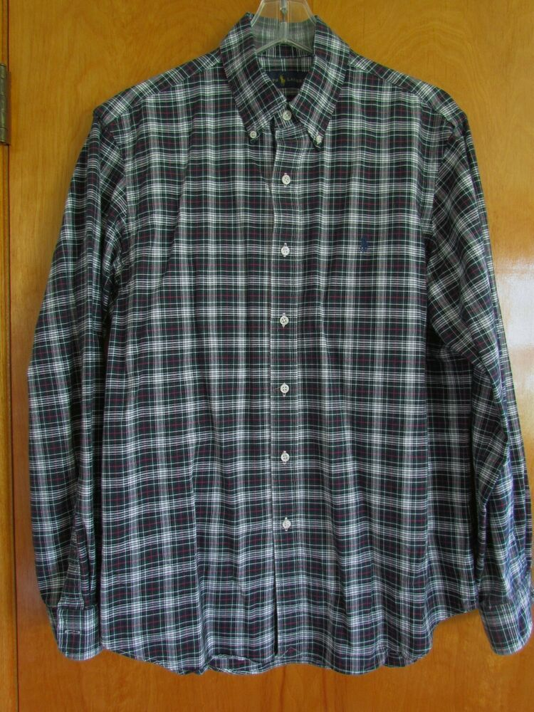 2615aae1 men's Polo by Ralph Lauren cotton plaid long sleeve shirt size Large  #fashion #clothing