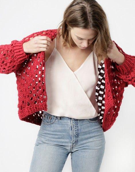 Peggy Cardigan | Crochet it or buy it | woolandthegang.com | SHOP ...