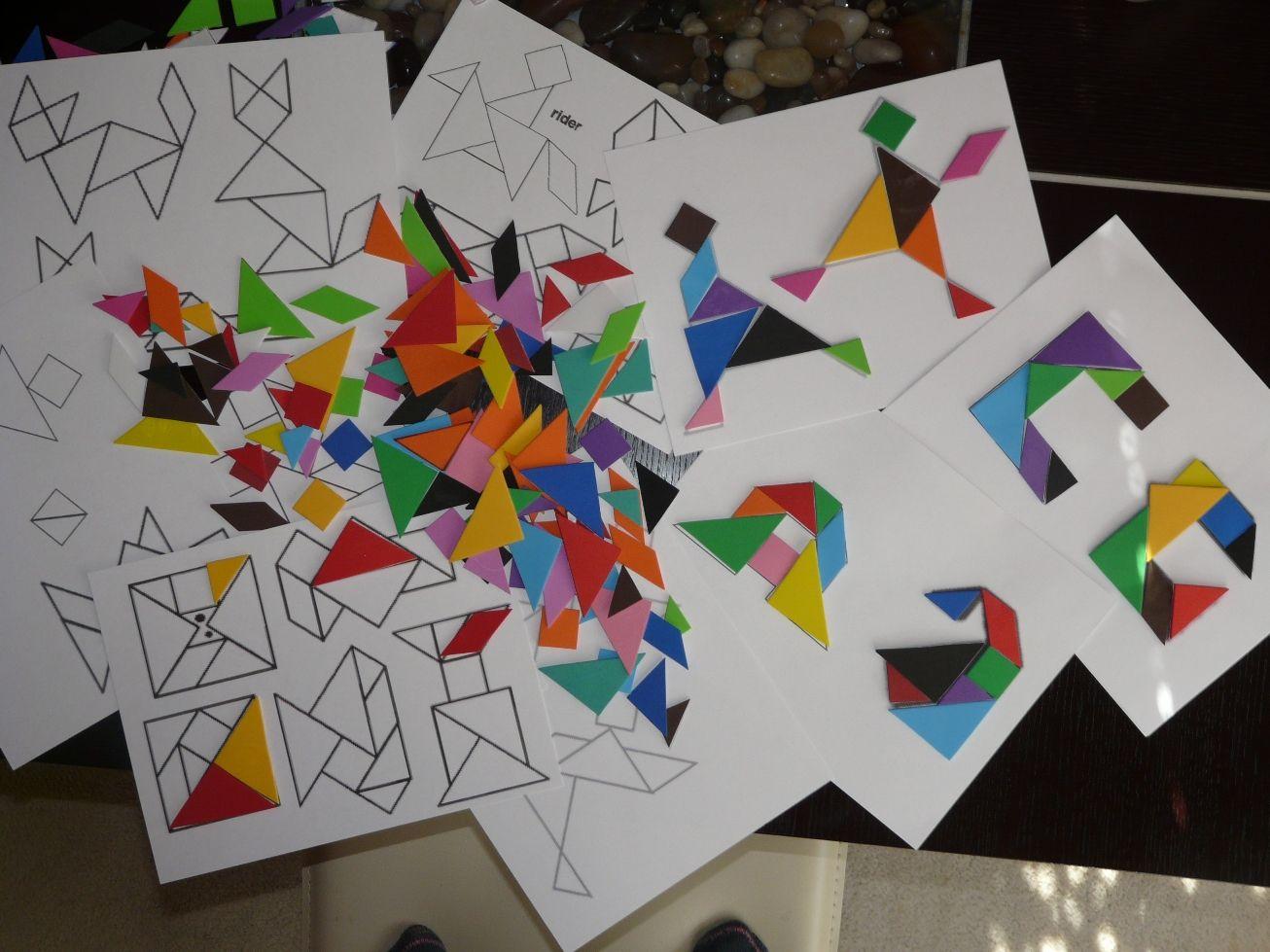 Tangram Alphabet Free Printable