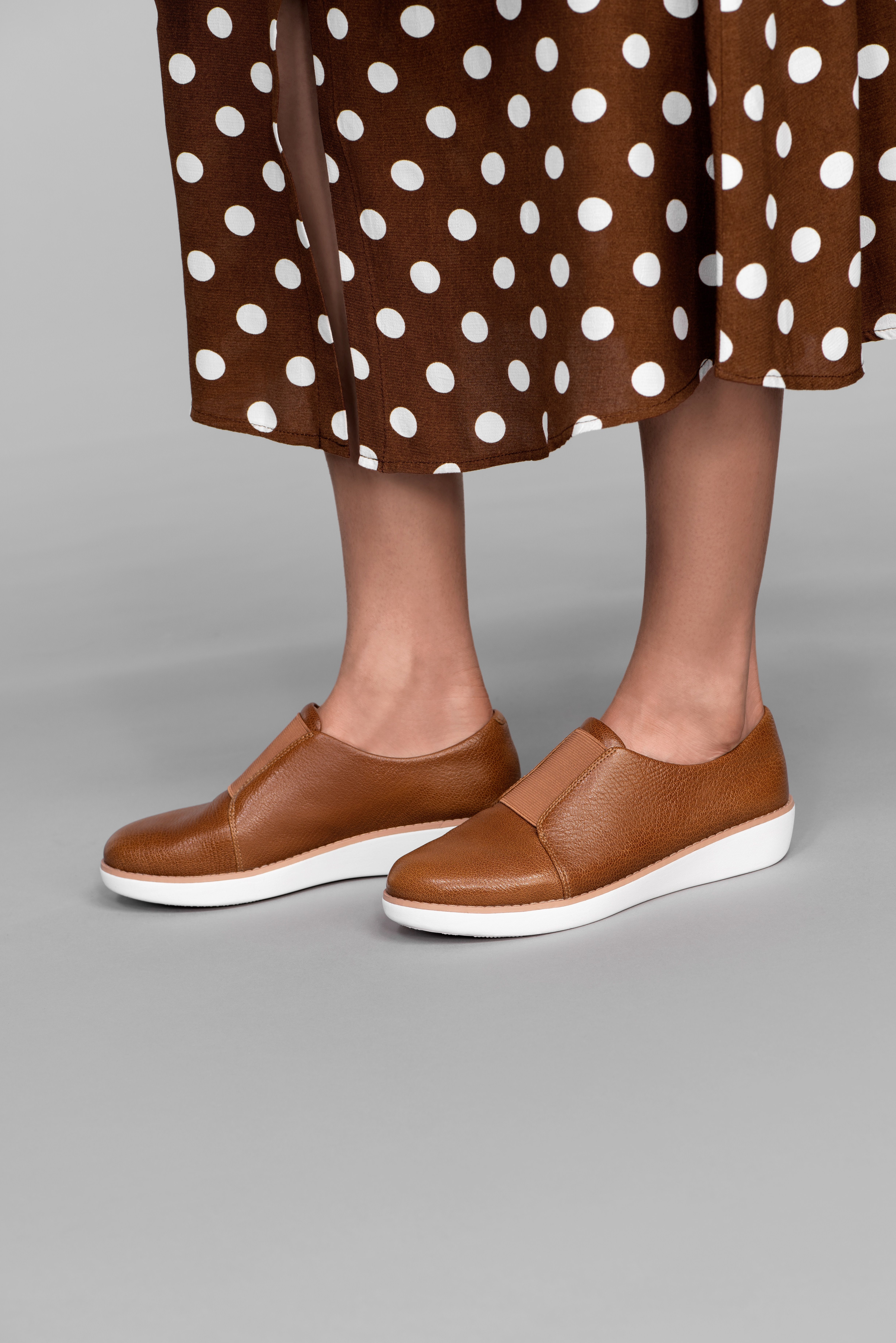 LACELESS Leather Derby Shoes