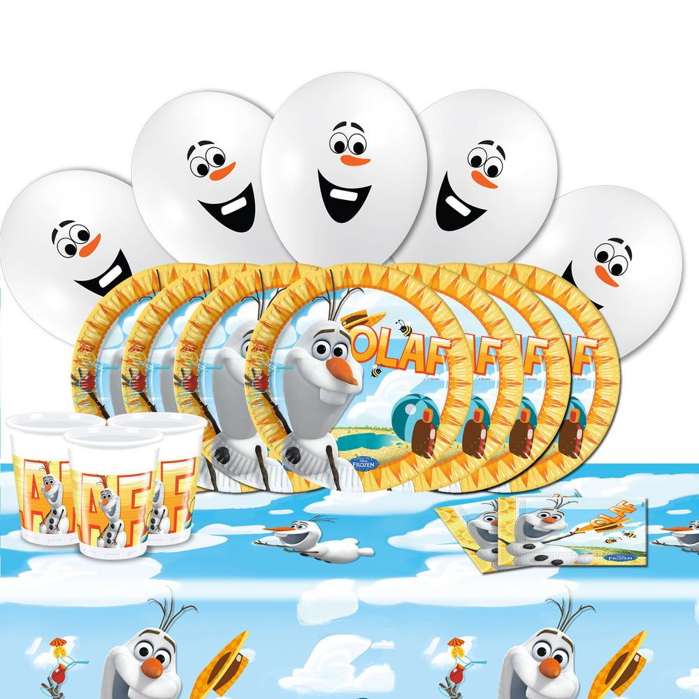 Disney Frozen Olaf Snowman Summer Party Supplies Tableware Balloons Pack For 16 #Disney  sc 1 st  Pinterest & Disney Frozen Olaf Snowman Summer Party Tableware Balloons Pack Kit ...