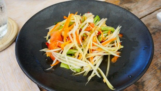 six senses som tam salade de papaye verte salades pinterest salade de papaye verte. Black Bedroom Furniture Sets. Home Design Ideas