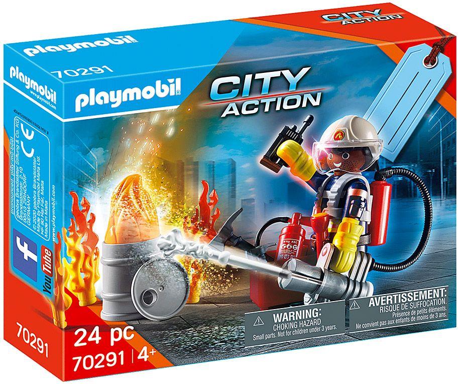 PLAYMOBIL City Action 70291 : Set cadeau Pompier