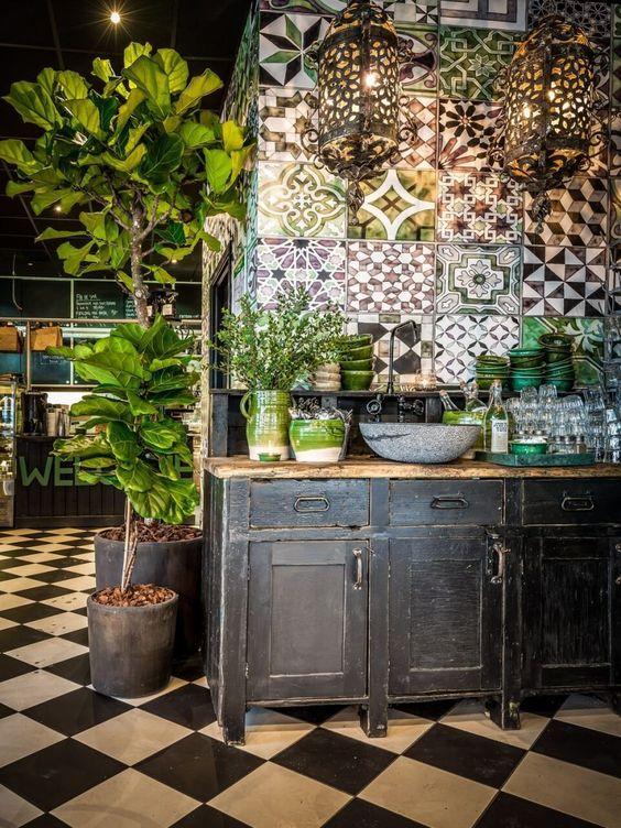 Moroccan Tile Interiors