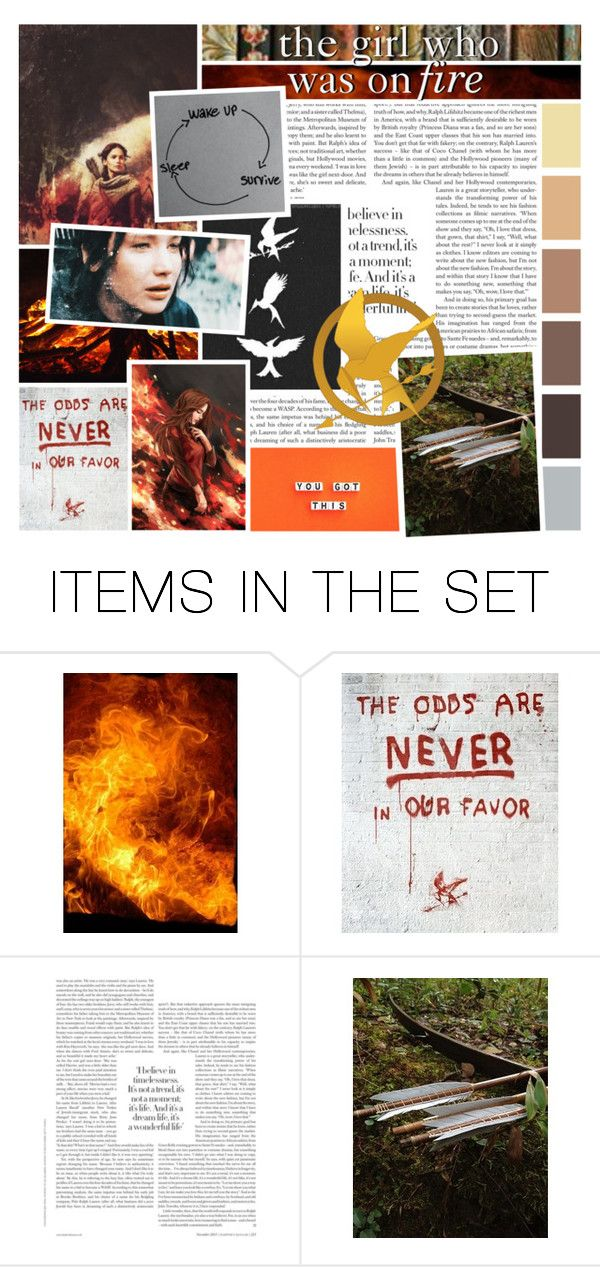 """the girl who was on fire"" by homeschoolcool ❤ liked on Polyvore featuring art and BOTE1"