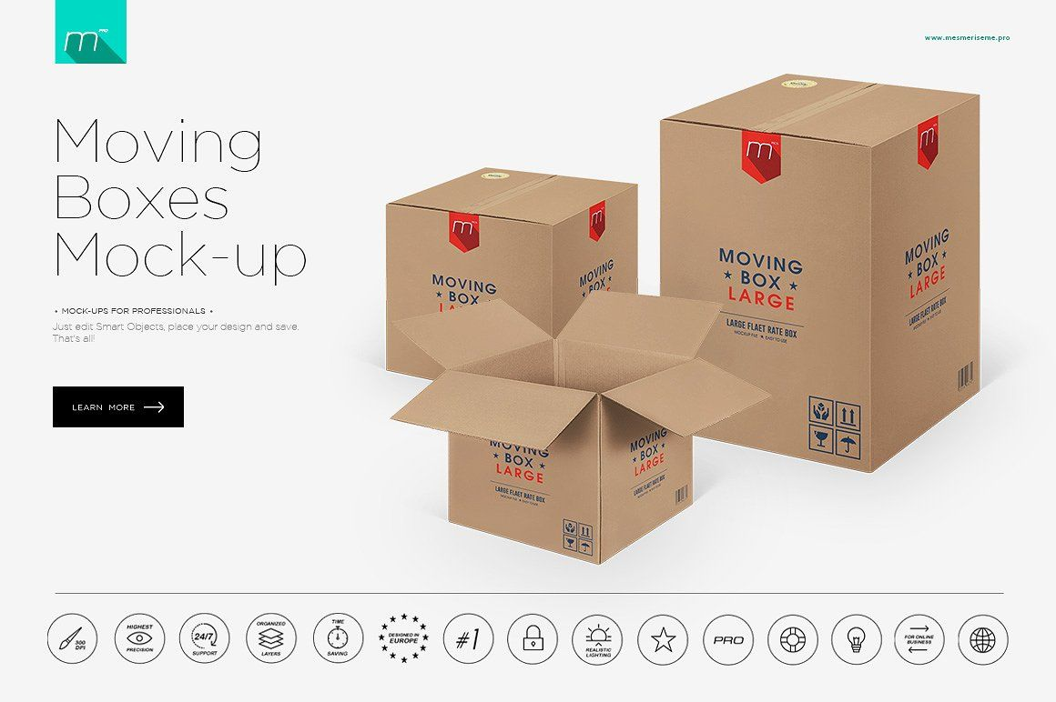 Download Moving Boxes Mock Up By Mesmeriseme Pics On Creativemarket Moving Boxes Branding Mockups Mockup