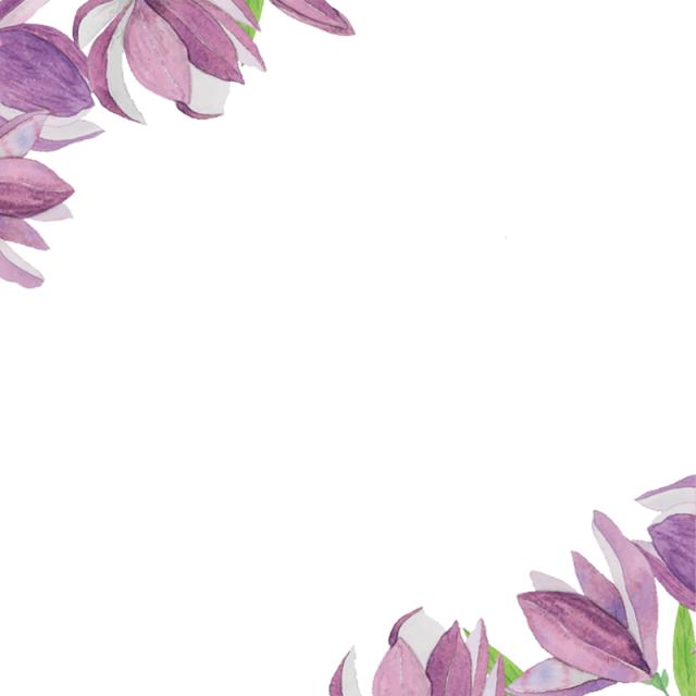 Purple Flower Border, Purple Flower, Border, Invitation