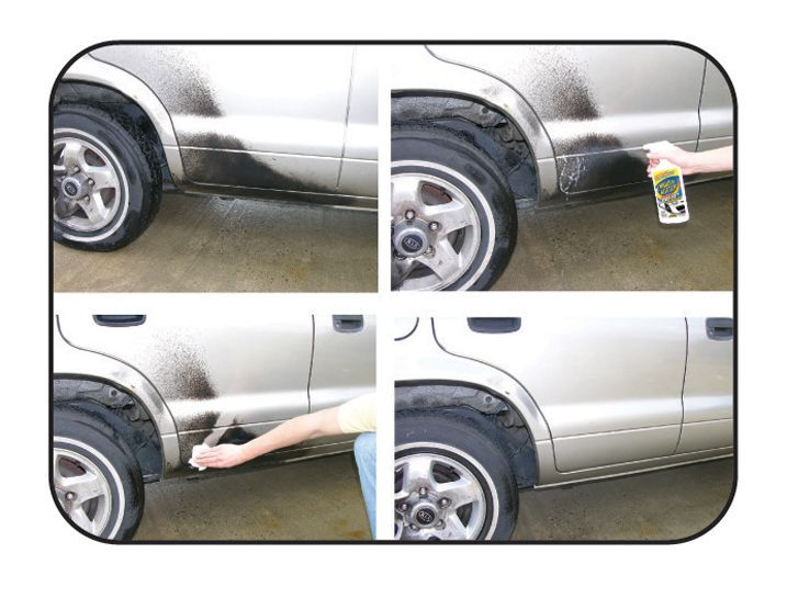 Remove Spray Paint From Car >> Spray Paint On Car Being Cleaned Off With Krud Kutter