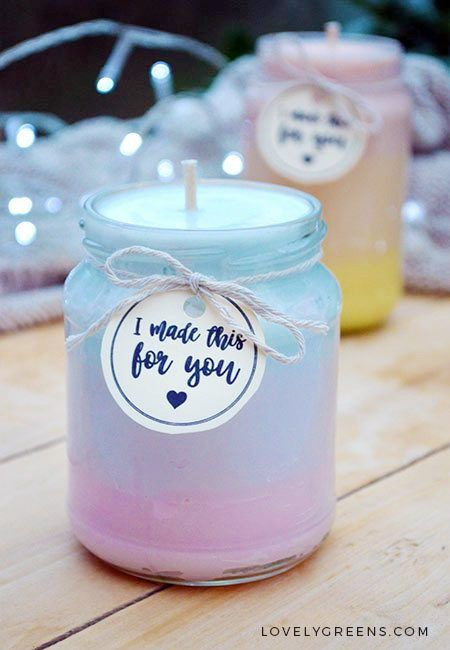 Natural Ombre Candles Recipe & Instructions #candles