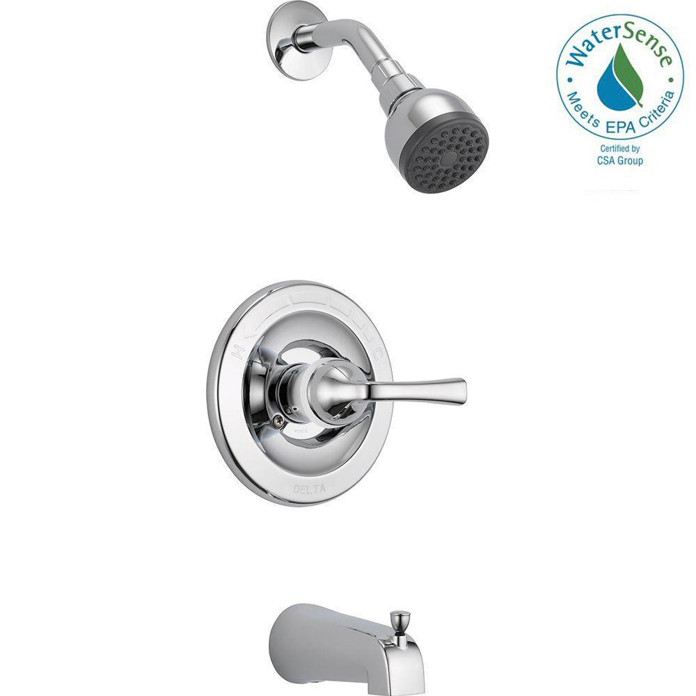 Colony Soft Diverter Bath Tub Shower Faucet Valve With Three Metal