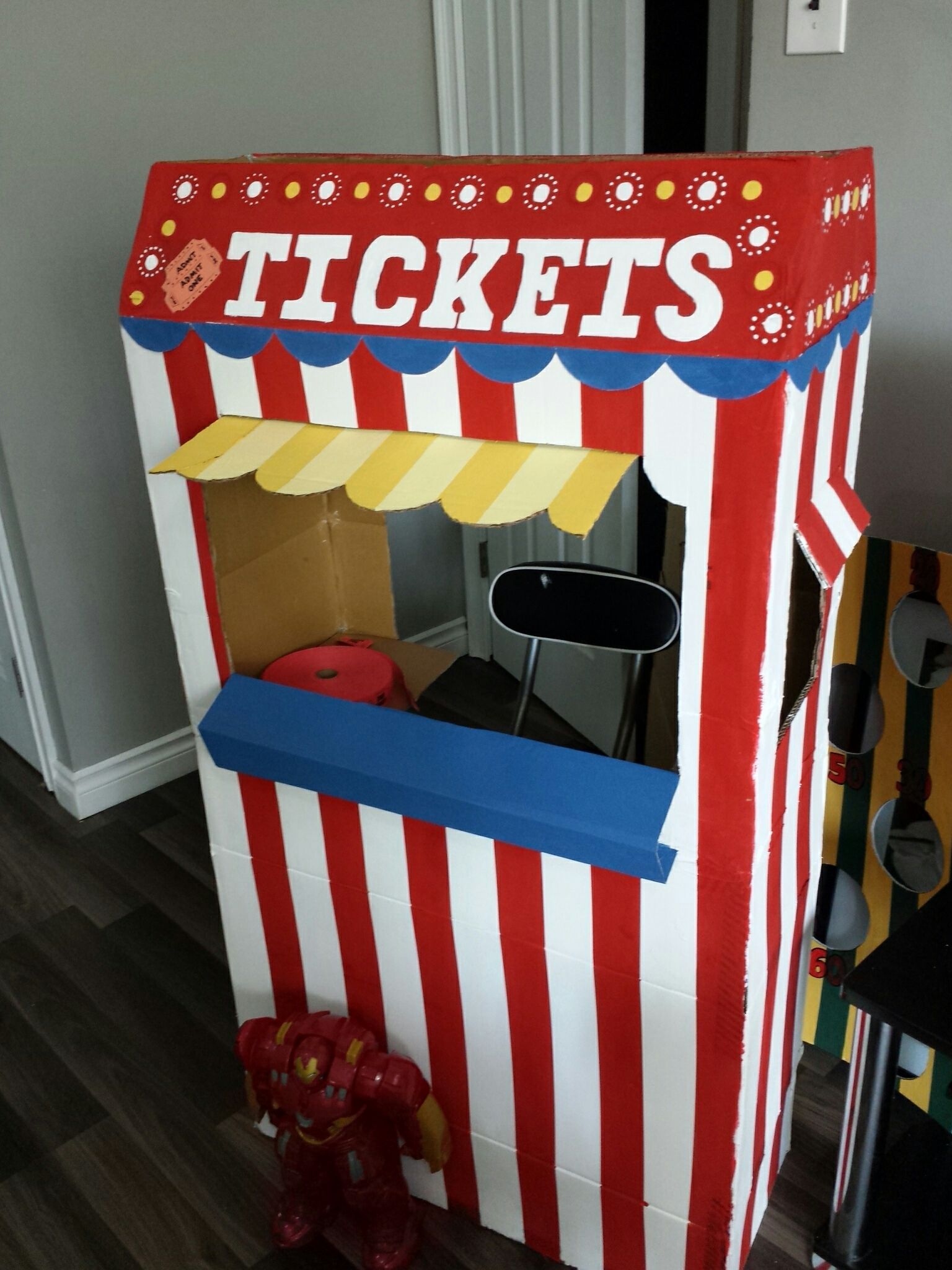 Diy carnival ticket booth | Family reunion ideas in 2019 | Circus