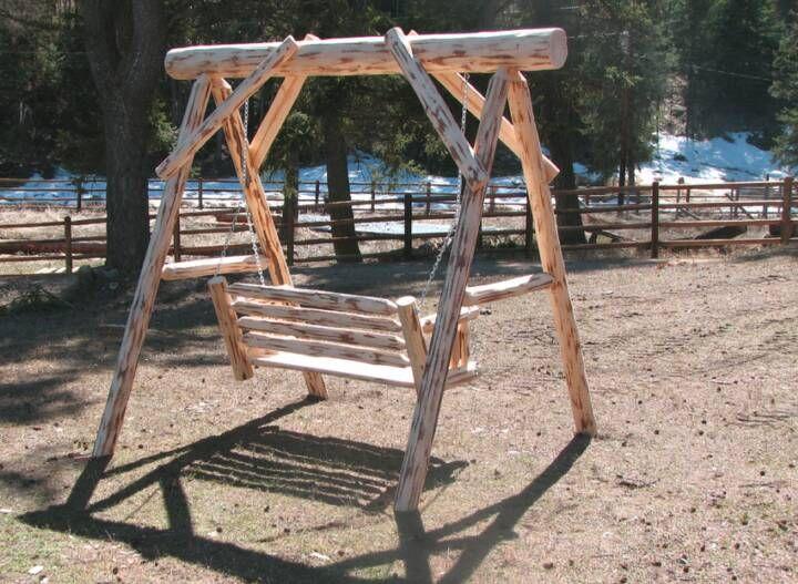 Captivating Log Pole Swings | Kilmer Creek Cedar Outdoor Furniture U0026 Gazebos Home Design Ideas