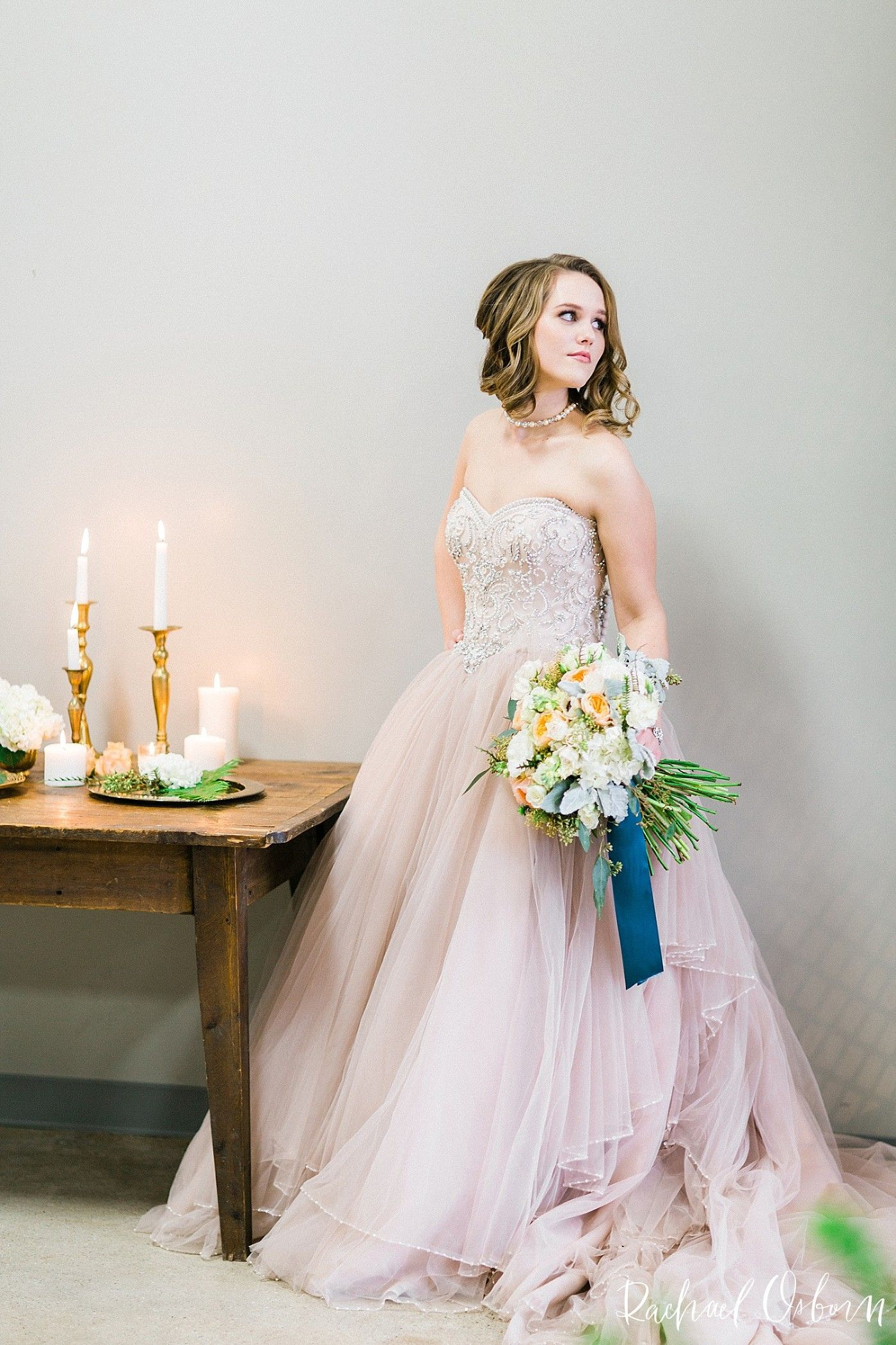 c6ed69e99c04 the perfect nontraditional wedding dress! blush rose wedding gown by justin  alexander with blue orange blush and green floral accents - the right way  to ...