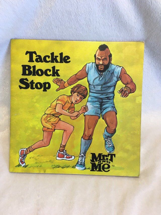 Vintage Mr T And Me Tackle Block Stop Book 1985 Edition