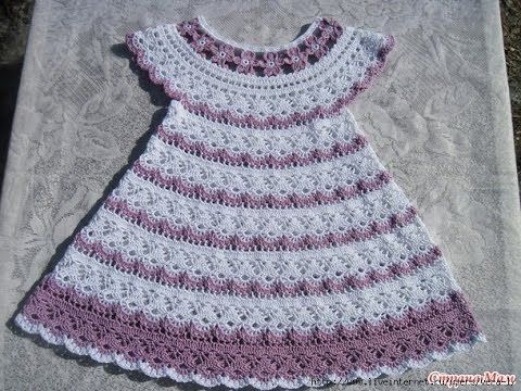 Crochet Patterns| for free |Crochet Baby dress| 569 CLICK here to ...
