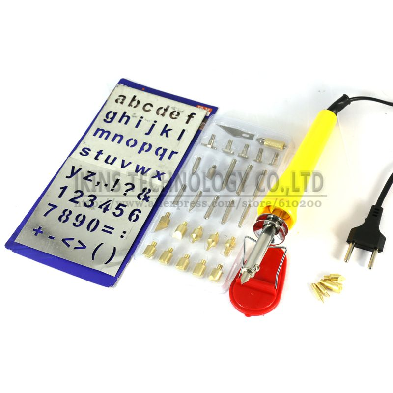 DIY Wood Burning Pen Soldering Iron Pen Tool Set with