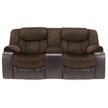 Ashley Tafton Living Room Double Reclining Loveseat Java 7920294 West  Branch Furniture Outlet Furniture