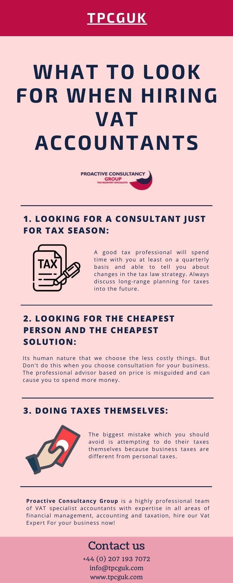 What to Look for When Hiring VAT Accountants TPCGUK in