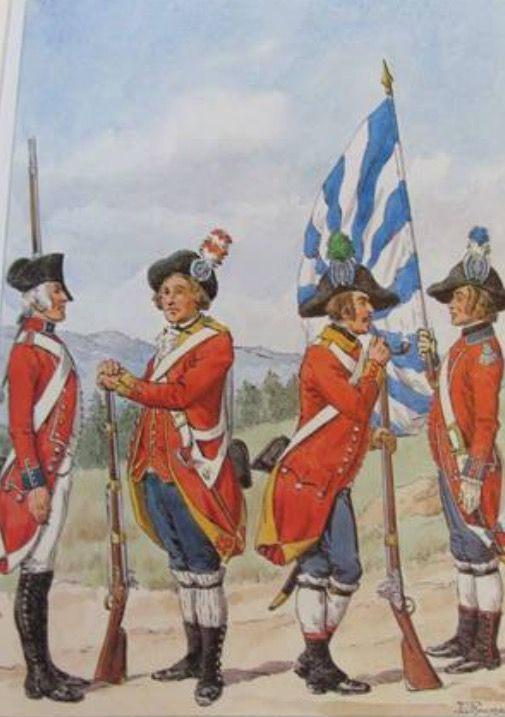 Infantry of the Militia from Canton Lucerne (around 1790), watercolour by Lucien Rousselot
