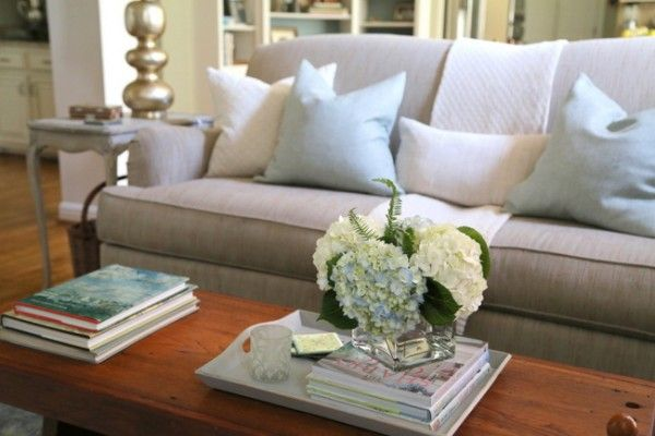 Staging A Dated Sofa Styling Tricks From The Decorologist The Decorologist Sofa Styling Grey Couch Living Room Sofa