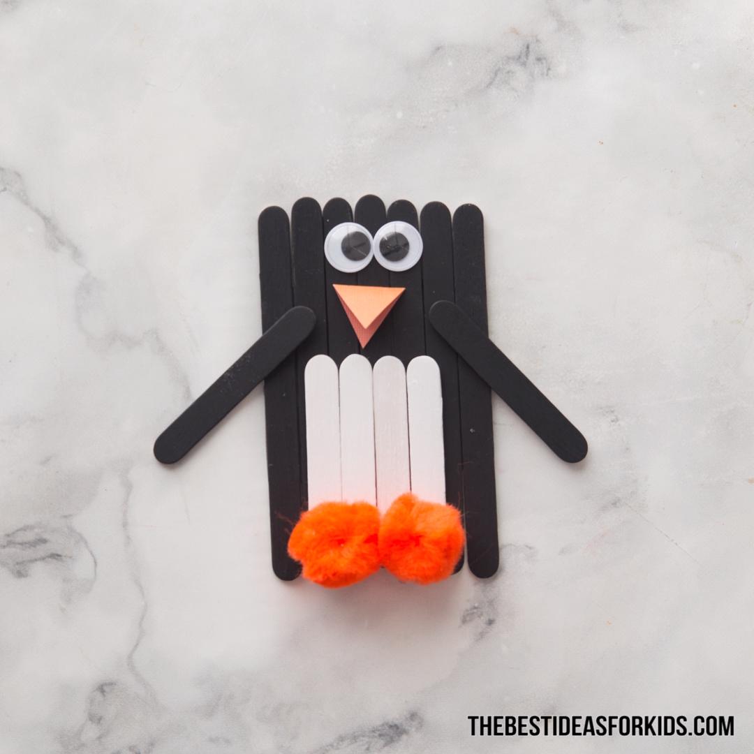 Popsicle Stick Penguin #penguincraft