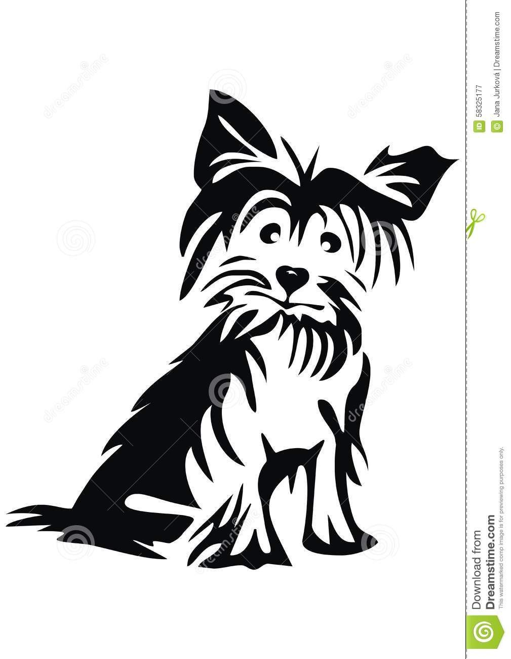 Coloring pages yorkie - Yorkie Silhouette Yahoo Image Search Results