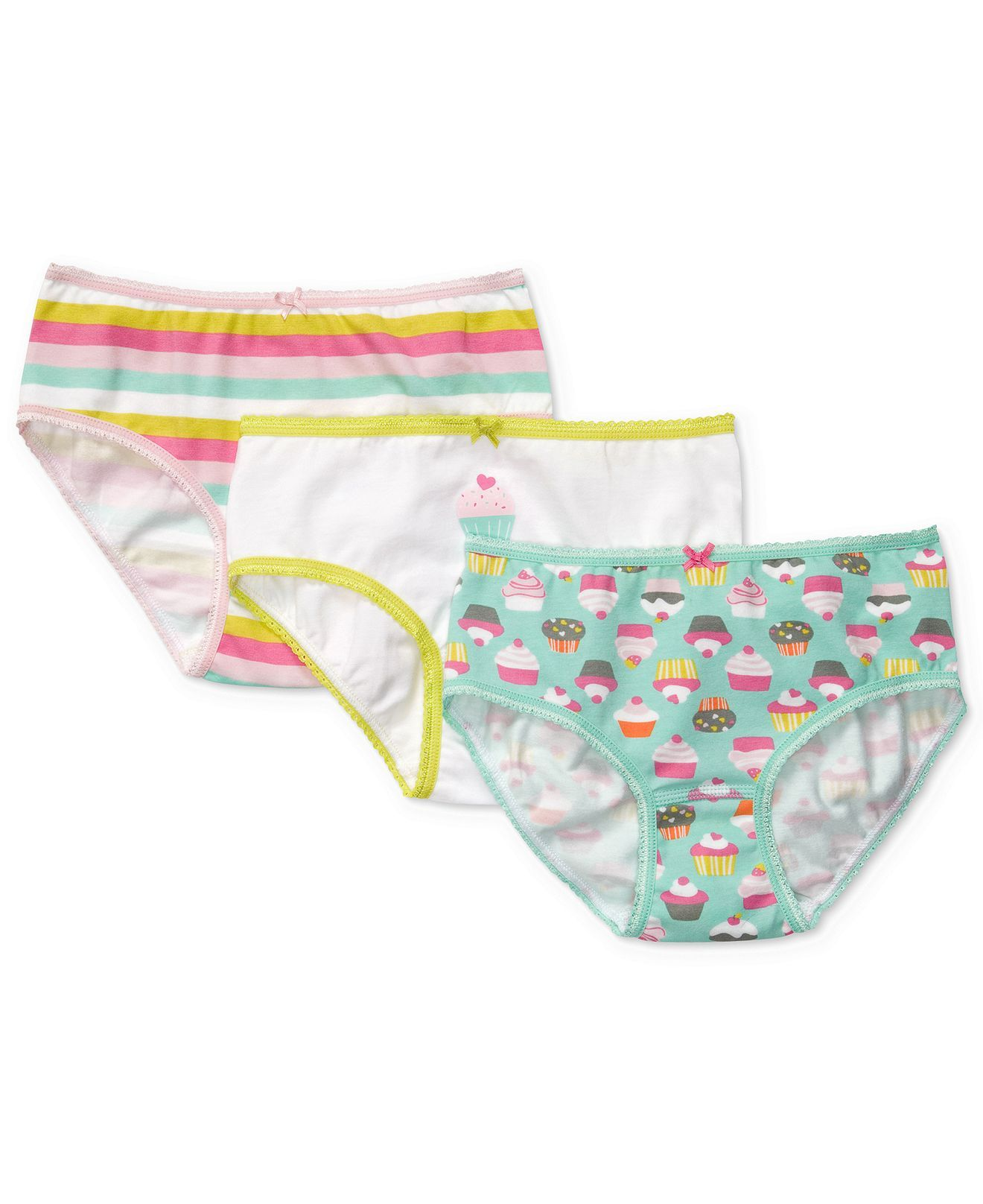 NWT GYMBOREE Girls Cotton White Panties Panty Pk Choice Pack Set NEW 3 Pk