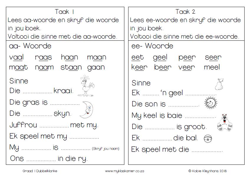 Image result for graad 2 lees Afrikaans, Afrikaans