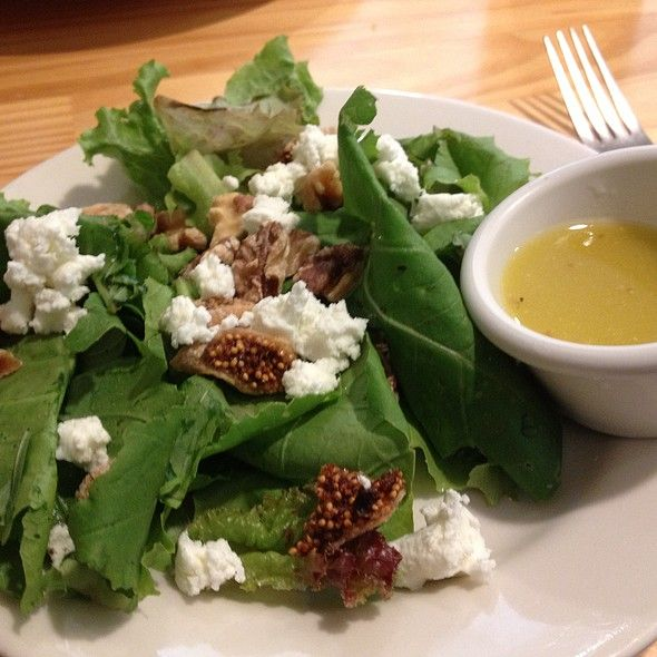 Salad with goat cheese, figs, walnuts @ Small B Cafe