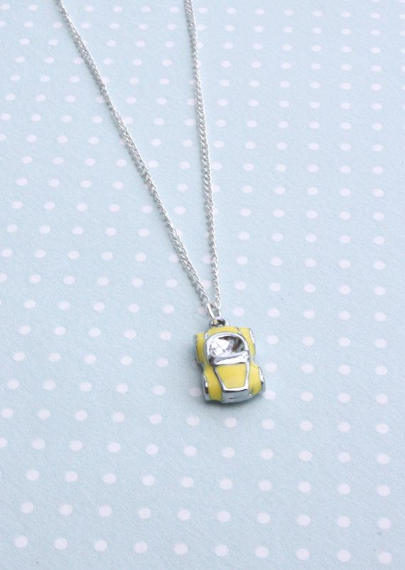 Cabin Pressure Yellow Car necklace by otterlydesign on Etsy, $23.49    You're ALWAYS playing Yellow Car.