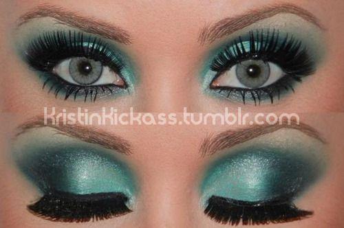 Aqua/Turquoise eyes.