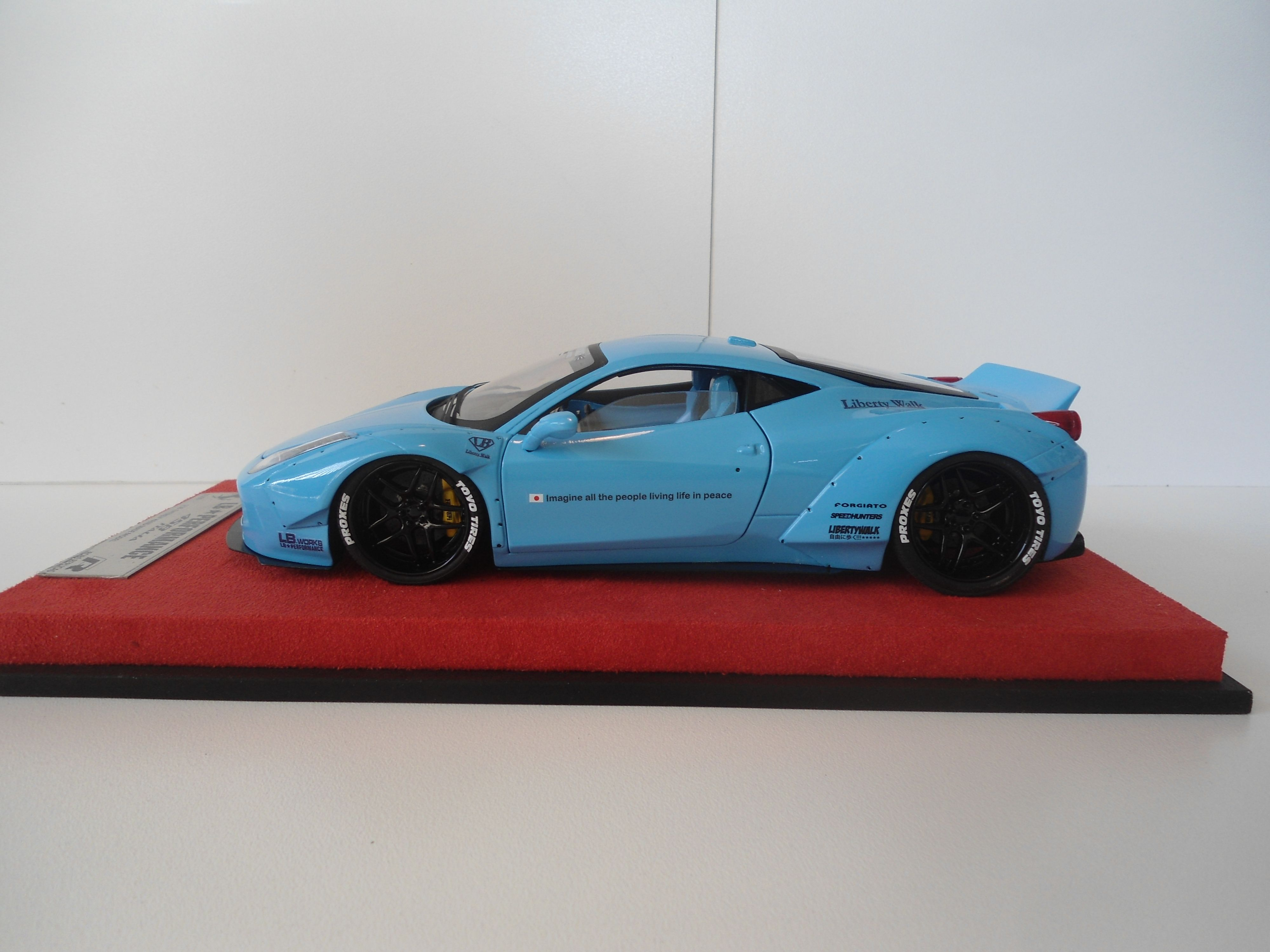 Ferrari 458 Baby Blue