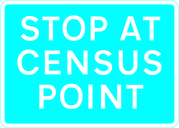830 Stop at census point £0.99 #signs #traffic #road #UK
