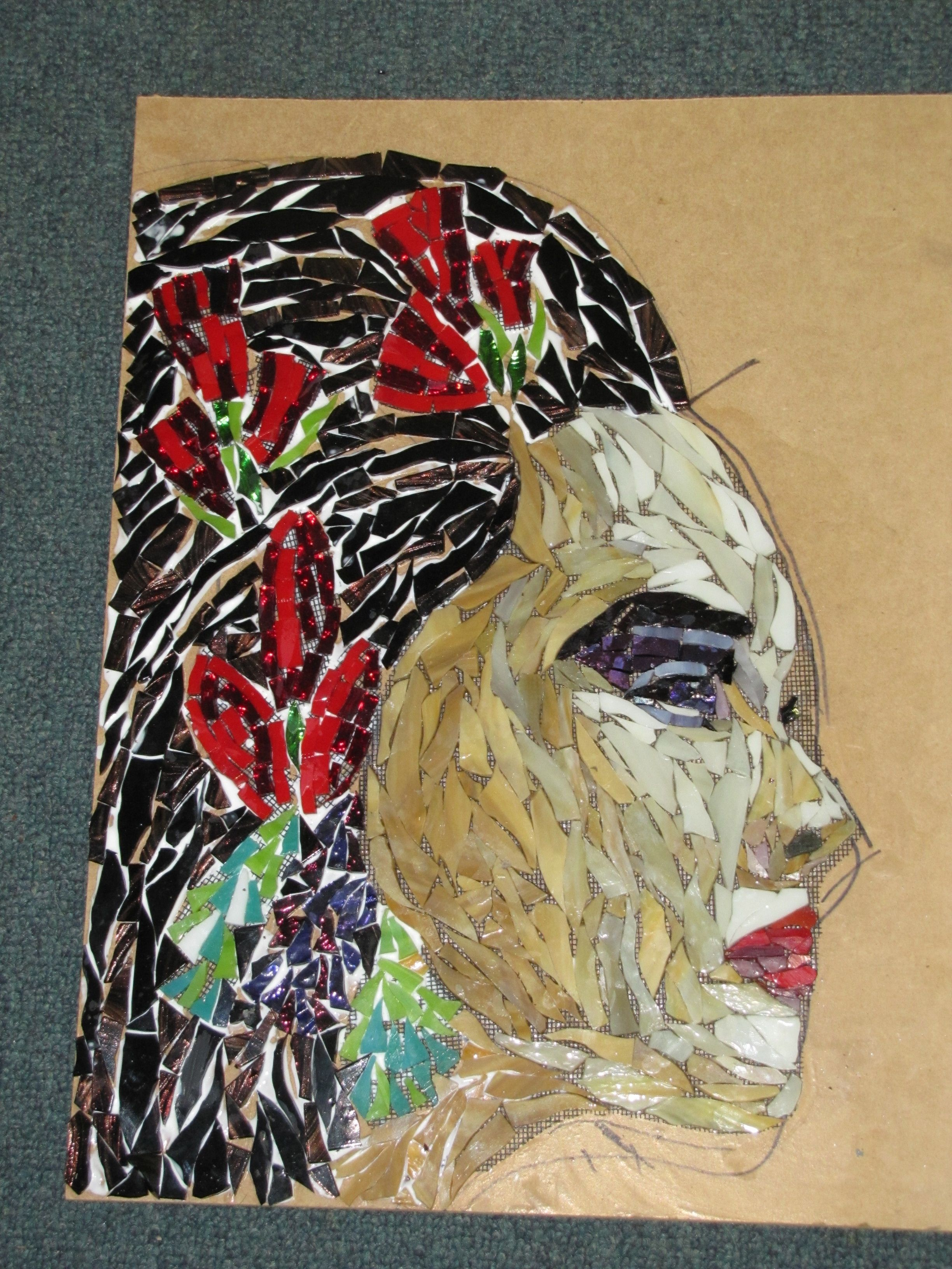 Glass Wall Art Australia This Is Dianna By Kat Gottke Mosaic Artist Form Australia