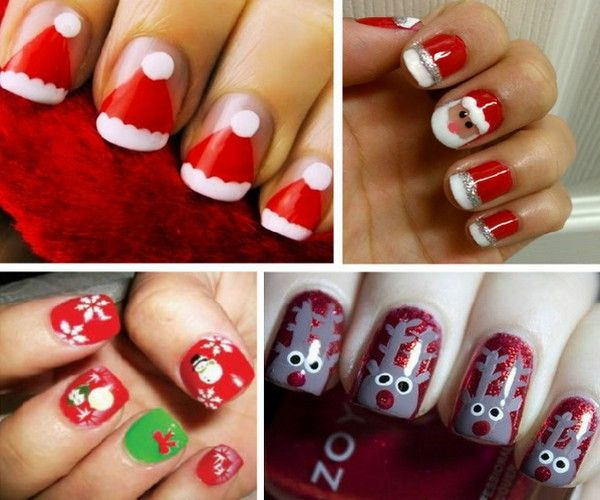 Santa Hat Nail Design | Nails | Pinterest | Santa hat ...