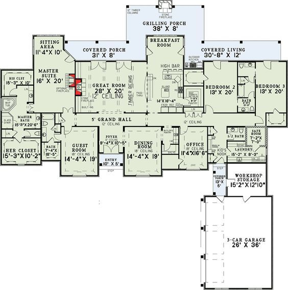 Plan 60502nd 4 Bedroom Grandeur Luxury House Plans Safe Room House Plans